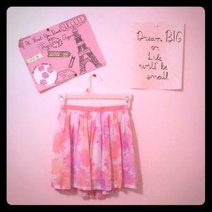 Floral kids size skirt